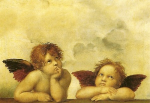 aniołki rafaela santi