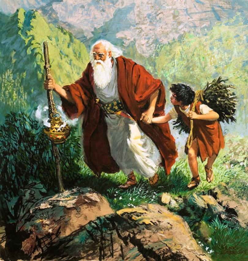 question de vie et de mort pour Abraham et Isaac, perdre pour laisser vivre