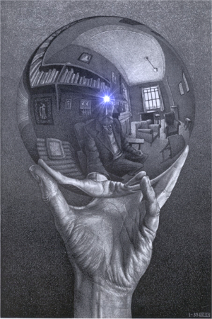 MC Escher Hand Reflecting Sphere